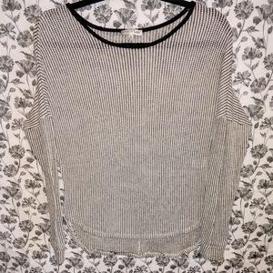 Fitz + Eddi- Black/White Fine Knit A-Line Sweater